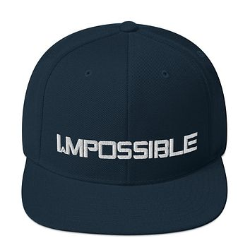 """"""" I AM POSSIBLE"""" Positive Motivational & Inspiring Quoted Embroidery Snap back Hat"""