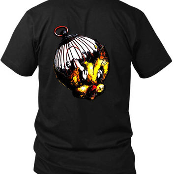 Tweety Monster 2 Sided Black Mens T Shirt