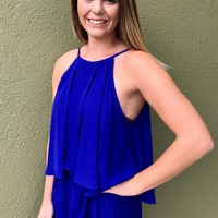 Gator Girl Romper - Blue