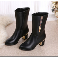 Hot Deal On Sale Winter Wedge With Heel Boots [9257017420]