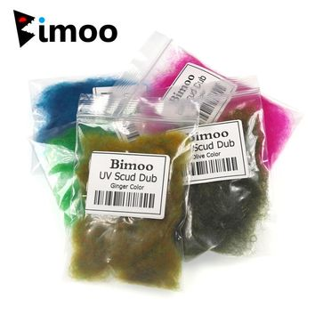 Bimoo 9 Colors to Choose 2g/Bag Fly Tying Dub Rabbit Dubbing Soft Hair Fiber for Nymph Wet Scud Shrimp Fly Tying Material