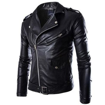 Trendy New Motorcycle Jackets Men Vintage Retro PU Leather Jacket Racing Biker Punk Classical Motocross Windproof Moto Jacket AT_94_13