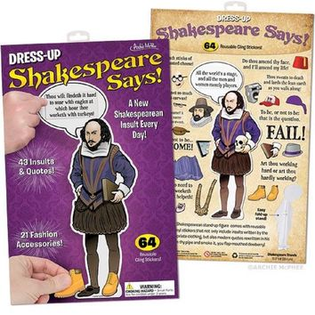 Dress-Up Shakespeare Says with Cardboard Accessories and Quotes