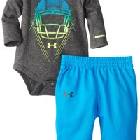 Under Armour Baby-Boys Newborn Helmet Loose fit Set, Carbon Heather, 3-6 Months