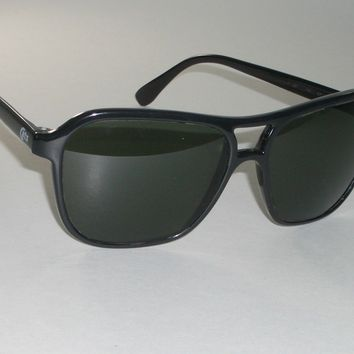 1970's BAUSCH & LOMB RAY-BAN SHINY BLACK NYLON G15 UV CATS 4000 SKI SUNGLASSES