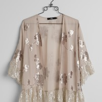 BKE Boutique Chiffon Cardigan