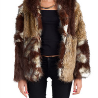 Rehab Clothing - Multi Faux Fur Coat