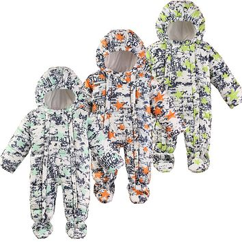Baby Snowsuit Winter Newborn Baby Rompers Warm Jumpsuit Baby Snow Wear Cotton Thick Romper Kids Outerwear Clothes Infant Costume