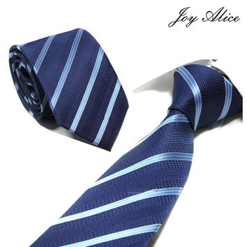 "Man Silk Ties for Mens Accessories Black Blue White Red Green Solid Striped Jacquard Business Wedding Necktie Gravatas 3.25""/8cm"