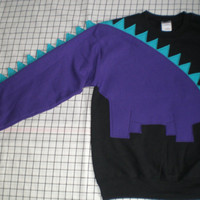 Dinosaur sweatshirt sweater shirt jumper spikey tail CUSTOM to your COLORS