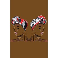 Reversible Une/Naetochu Head Wrap African Print