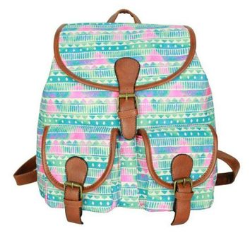Day-First™ Cute Sweet Tribal Travelling Bag College School Bag Canvas Backpack Daypack