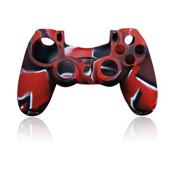 Silicone Protective Skin Cover Case for Sony Playstation PS4 Play Station PS 4 Dualshock 4 Game Controller Game pad Joystick