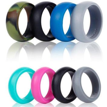 Syourself Silicone Wedding Ring Band For Men Or Women 4 Or 6 Pack Safe Flexible Comfortable Medical Grade Love Rings Fit For Sports Outdoors+gift Box