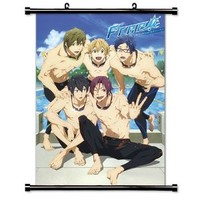 "Free! Iwatobi Swim Club Anime Fabric Wall Scroll Poster (16"" x 23"") Inches"