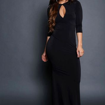 Sexy Cut Out Maxi Dress