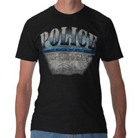 POLICE~Thin Blue Line T Shirts from Zazzle.com