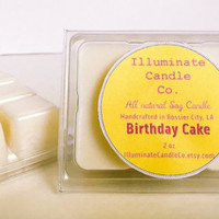Birthday Cake Soy Wax Melt,Organic Wax Melt, Wax Tarts, Wax Melt, Soy Wax, Clamshell Melts, Candle melt, Wax warmer