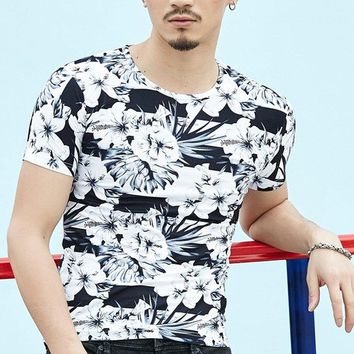 2018 New Spring Summer Men Basic T Shirt Sexy Long Sleeve Slim Casual Men Tops Plus Size Stretch Pullover Tee Brand Clothing