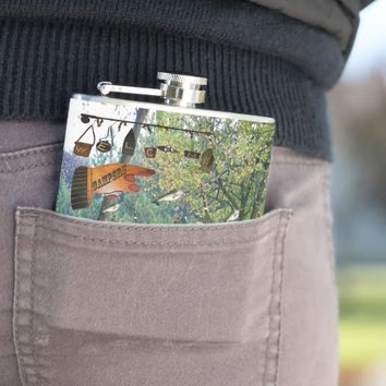 Nature Welcome Campers Flask