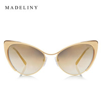 Fashion Metal Cat Eye Sunglasses Women Brand Designer Cat Eye Sun Glasses Sexy Oculos De Sol Feminino Hot Sale MA051