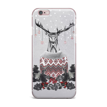 "Nika Martinez ""Christmas Deer Snow"" White Holiday iPhone Case"