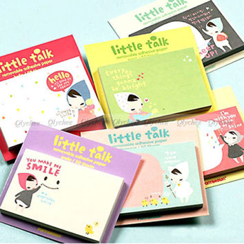 Random Style Stationery stationary Little Talk Removable Adhensive Memo 50 page