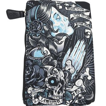 Liquor Brand Cosmetic Bag Gypsy Scrolls Tattoo Art makeup purse