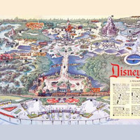 Disneyland Park Map Mini poster 11inx17in