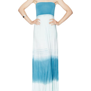 Young Fabulous & Broke Women's Bangal Abstract Maxi Dress - Blue -