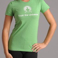 Positive Thought Brand Trust the Universe Fine Jersey T-Shirt