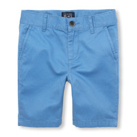 Boys Solid Woven Chino Shorts | The Children's Place