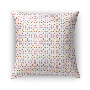 FLOWERS AND PEARLS Accent Pillow By Heidi Miller