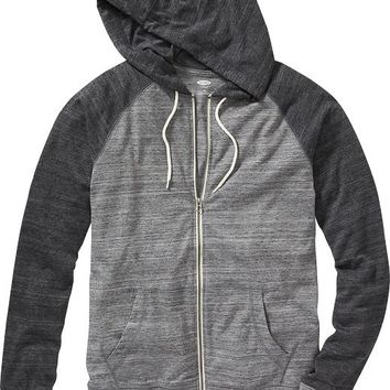 Old Navy Drawstring Baseball Zip Hoodie