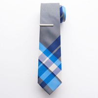 Apt. 9 Cabana Plaid Skinny Tie & Tie Bar Set - Men, Size: One