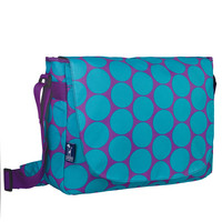 Big Dot Aqua Laptop Messenger Bag - 38119