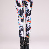 Battle Unicorn Print Leggings