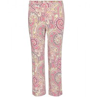 etro - cropped printed trousers