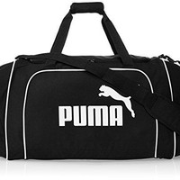 PUMA Team Large Holdall Sports Bag Gym Duffle Everyday Bag Black/White 068221 01