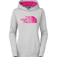 The North Face Fave Pullover Hoodie for Women in Grey Heather and Fuschia Pink A6S1-GDH