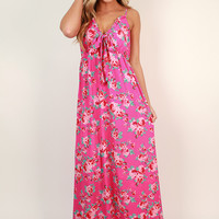 Sweeter Than Roses Maxi Dress in Hot Pink