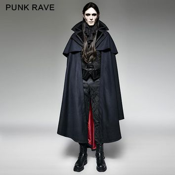 Punk Rave Blue Gothic Vampire Rock motocycle style fashion Cape Coat Jacket Y709,Party Cosplay clothing