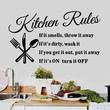 New Arrival Kitchen Rules Kitchen Restaurant Wall Stickers Home Decoration HG-WS-1567