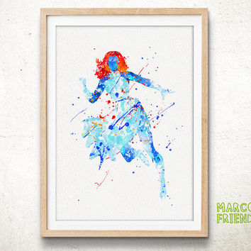 Mystique X-Men - Watercolor, Art Print, Home Wall decor, Watercolor Print, X-Men Poster