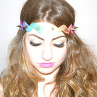 Spiked Hippie Headband by UndisposedClothing on Etsy