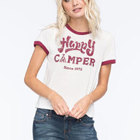 FULL TILT Happy Camper Womens Ringer Tee | Graphic Tees