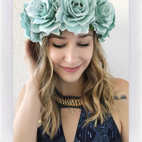 EZRA FLOWER CROWN- BLUE