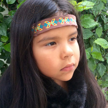 Boho native american headband, custom, handmade, native, photo, prop, shoot, native, american, fashion, goddess, pocahontas, princess