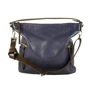 Melanie purple leather shoulder bag