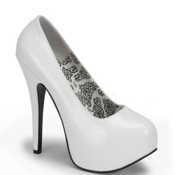 Bordello White Patent Stilettos